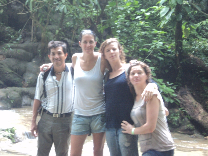 Paco, our guide and my three friends from Belgium